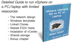 Setup VMware vSphere 5 lab on a PC or laptop with limited ressources