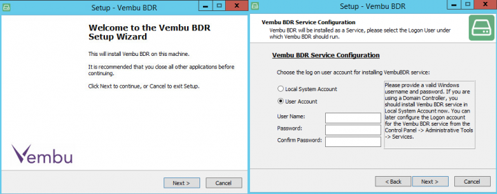 Vembu BDR Server Installation