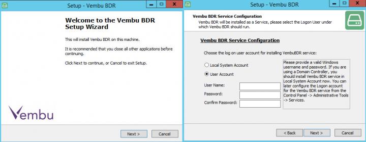 Vembu BDR Server Installation