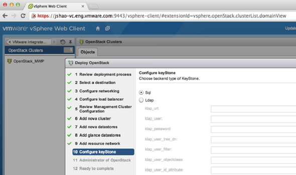 VMware vSphere OpenStack Deployment via OVF