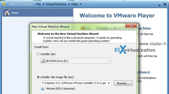How-to create bootable ESXi 5 USB stick by using Vmware Player
