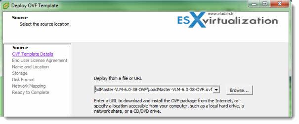 LoadMaster VLM Setup on VMware vSphere 5.1