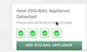 VMware EVO:RAIL - detecting another applicance is automatic