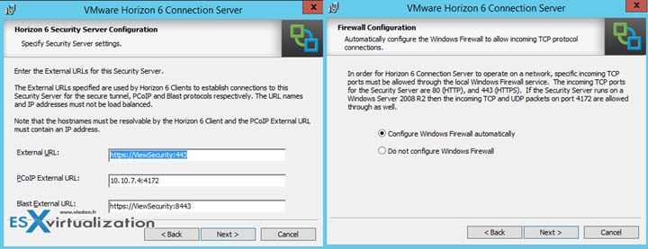 VMware Horizon View Security server Installation