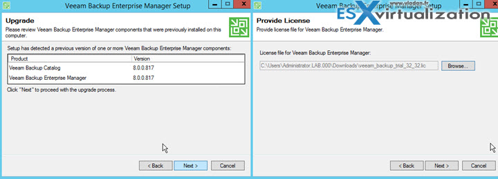 Veeam 9 upgrade steps