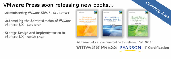 3 new books anounced from VMware Press
