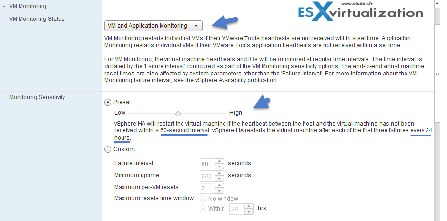 VMware Tools Heartbeat Options And Application Monitoring