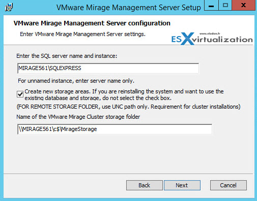 VMware Mirage install guide