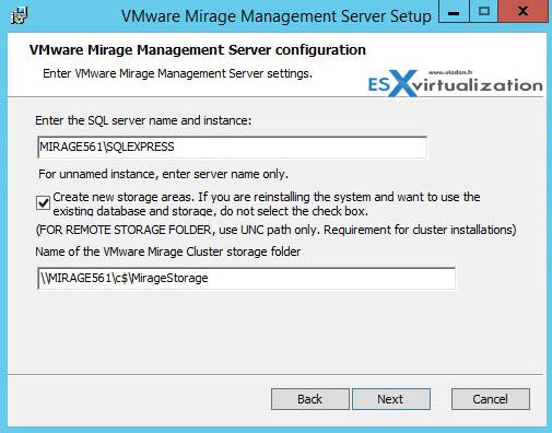 VMware Mirage install guide