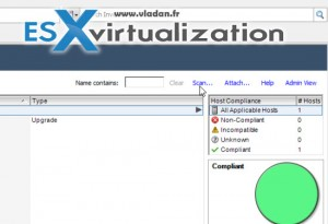 VMware Update Manager ESXi 5.5 to ESXi 6.0