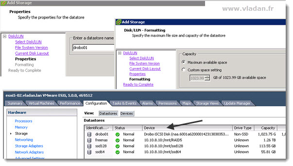ESXi5 - Configuring iSCSI connection for Drobo Elite