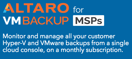 Altaro Backup for MSPs