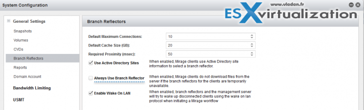 How Enable VMware Mirage Branch Reflector