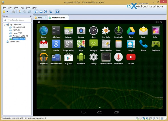 How to install Android Kitkat in VMware Workstation