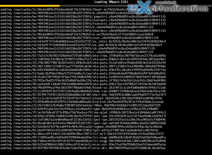 AutoDeploy booting ESXi host