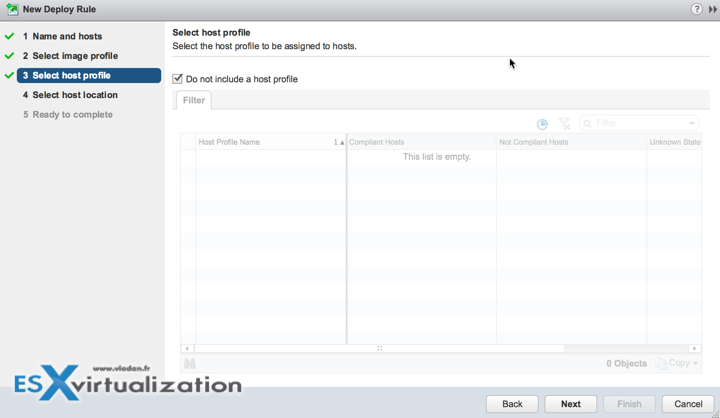 AutoDeploy vSphere 6.5 and Selection Host Profile
