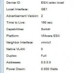 CDP info from ESXi 150x150 Home Lab Gear: Cisco SG300 10 Layer 3 switch gets even better