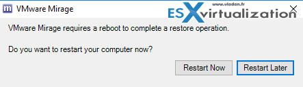 Complete restore by rebooting
