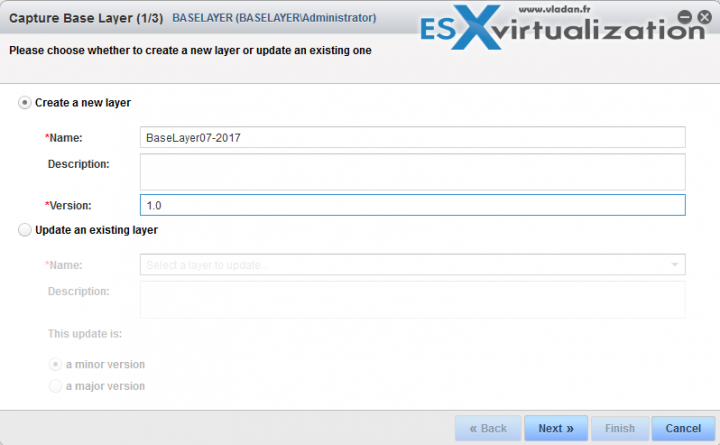VMware Mirage Capture a Base Layer