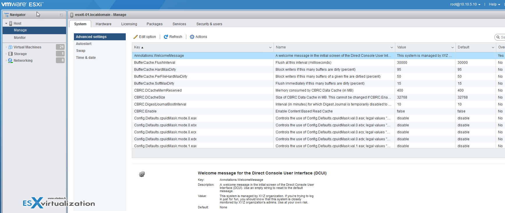 How-to Create a Security Banner for ESXi   ESX Virtualization