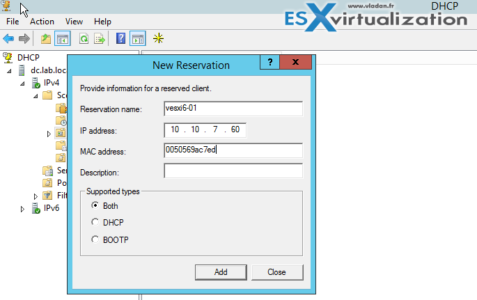 how to create custom dhcp scope options