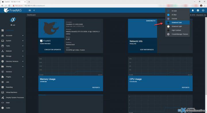 FreeNAS 11 2 Has a nice new UI and updates | ESX Virtualization