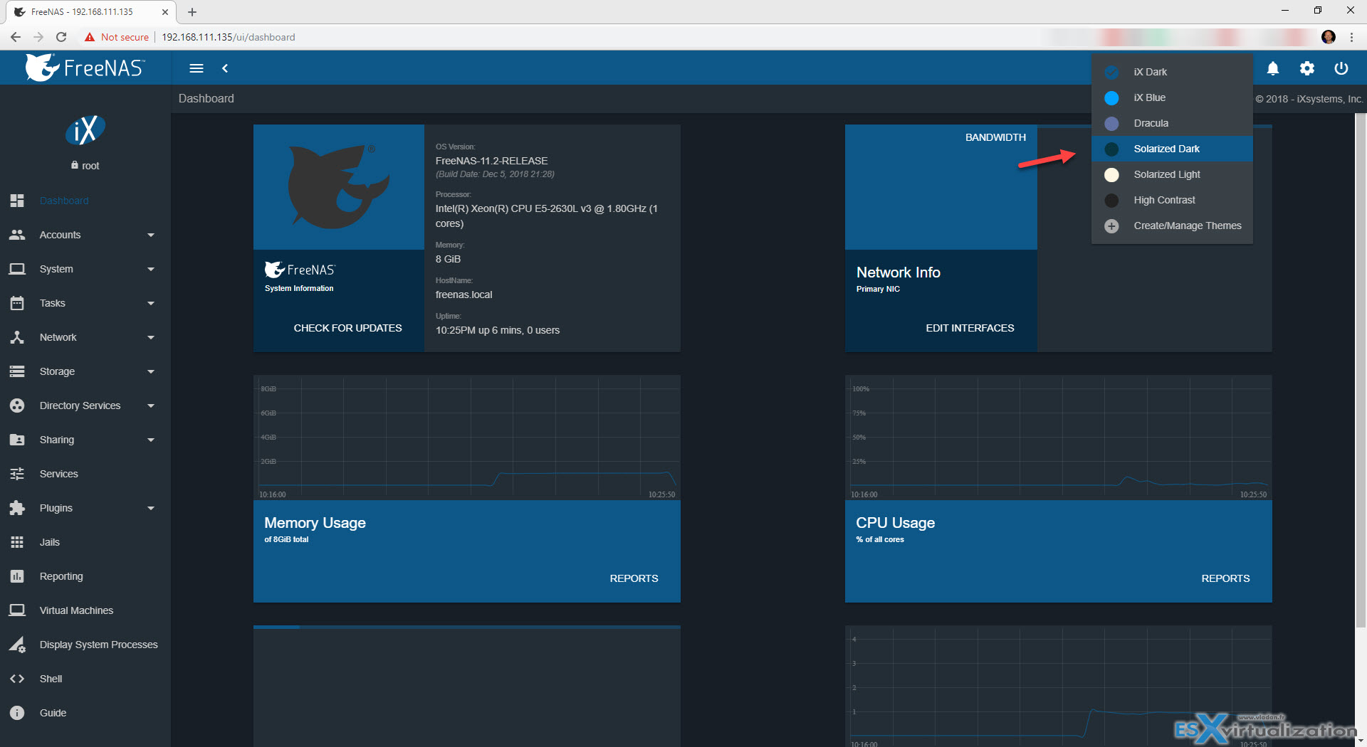 FreeNAS 11 2 Has a nice new UI and updates | ESX Virtualization