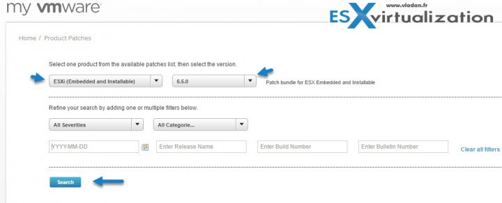 Download latest ESXi patch