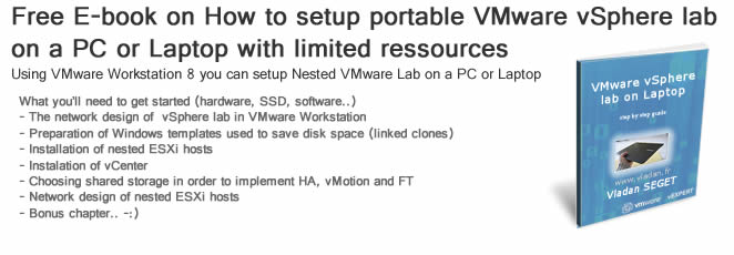 How to setup nested vSphere Lab on a PC by using VMware Workstation