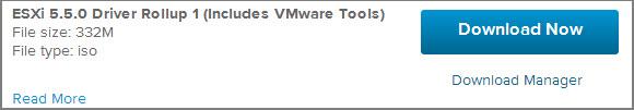 VMware ESXi™ 5.5.0 Driver Rollup 1