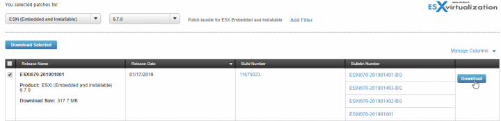 Latest ESXi Patch