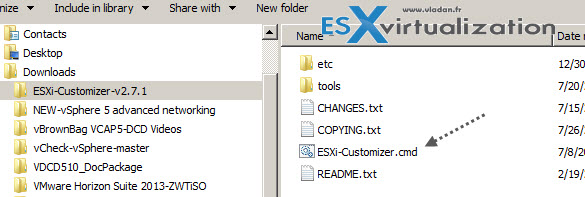 ESXi customizer