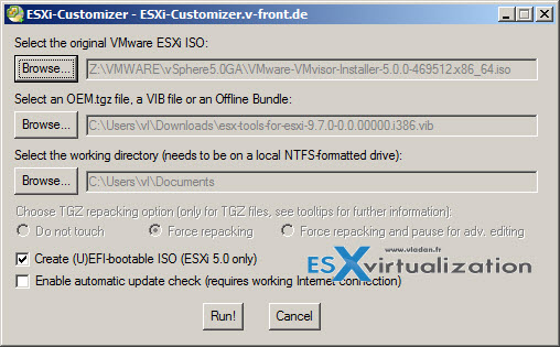 ESXi customizer