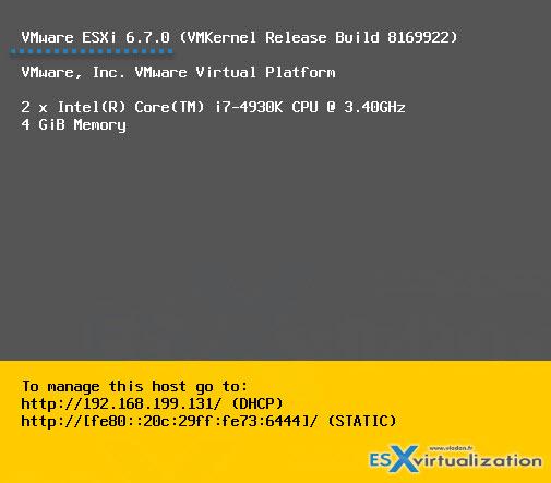 How To Upgrade ESXi 6 x to 6 7 via ISO   ESX Virtualization