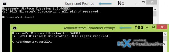 Elevated command prompt Windows 8.x