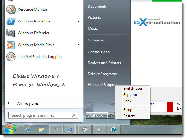 Explorer 7 on Windows 8