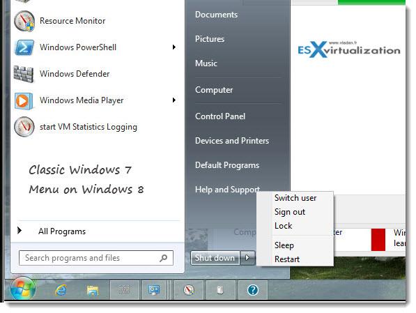 Explorer 7 on Windows 8