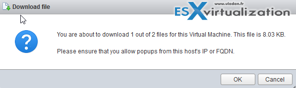 Export ESXi Nested VM as OVF