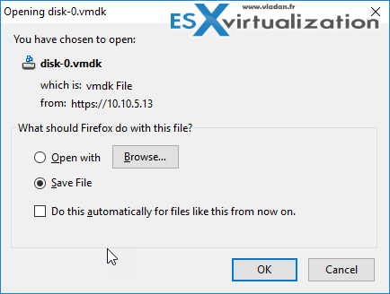 Export ESXi nested as template