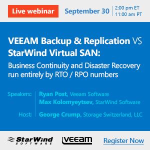 FB_VEEAM Backup & Replication VS StarWind Virtual SAN