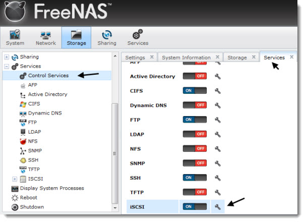 How to configure FreeNAS for iSCSI