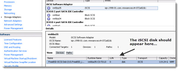 FREENAS8 iSCSI target configuration VMware ESXi How to configure FreeNAS 8 for iSCSI and connect to ESX(i)