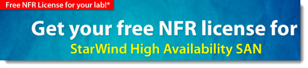 Free NFR License of Starwind iSCSI SAN Software