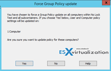 Group Policy Refresh on a OU window
