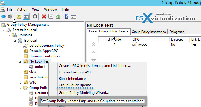Group Policy Refresh on a OU
