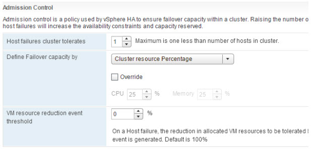 vSphere 6.5 and HA Admission control simplified
