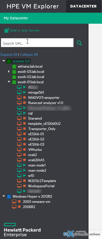 HPE VM Explorer 6.3 now compatible with vSphere 6.5 | ESX Virtualization