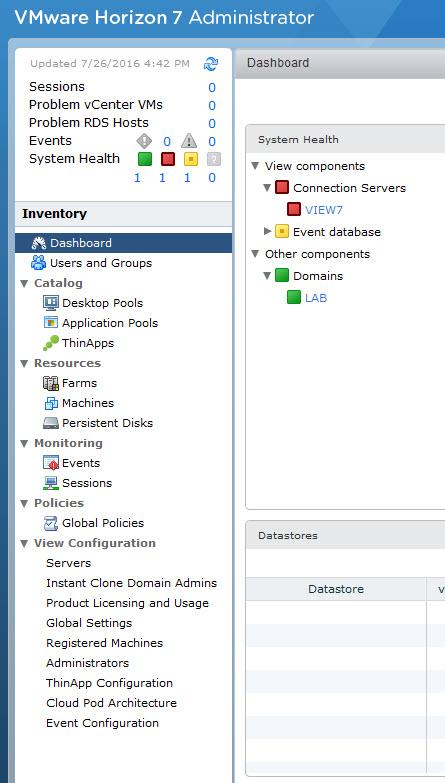 VMware Horizon 7 Installation of Connection Server