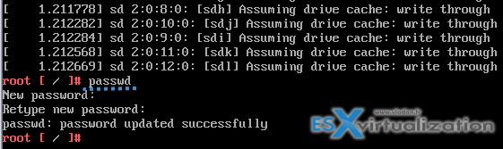 Como redefinir a senha do root no VCSA 6.5 - digite a nova senha
