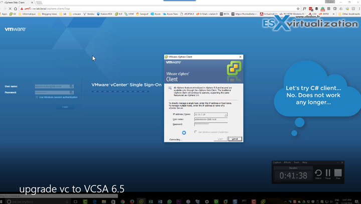 How to Migrate Windows Based vCenter to VCSA 6.5